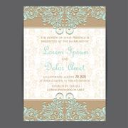 Stock Illustration of Wedding invitation or announcement card