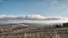 Bieszczady Mountains. Clouds moving fast on the sky. Full HD time lapse. Stock Footage