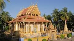 Wat Piphetthearam temple,Battambang,Cambodia Stock Footage