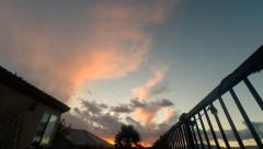 Time Lapse: Scenic Desert Clouds Sunsetting Stock Footage