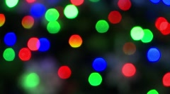 Christmas lights on the tree. - stock footage