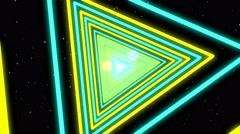 Neon Streaks Disco Led Laser Loop Background Energy Turquose Light Night Yellow Stock Footage