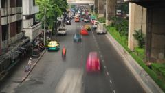 Bangkok traffic jam time lapse video Stock Footage