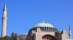Hagia Sophia Mosque in Istanbul Stock Footage