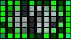 Flashing  squares in green color Stock Footage