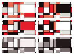 Mondrian style illustration Stock Illustration