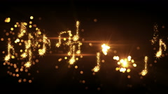 Glittering music notes and fireworks loopable animation 4k (4096x2304) Stock Footage