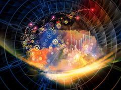 Abstract Visualization Backdrop - stock illustration