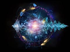 Acceleration of Quantum Wave Stock Illustration