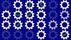 Rotating gears with the message TEAM Stock Footage