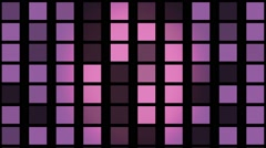 Flashing  squares in purple color Stock Footage