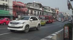 Street traffic in Bangkok Stock Footage