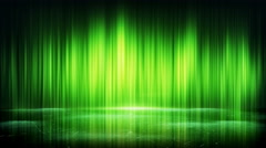 green light lines and reflection loop background 4k (4096x2304) - stock footage