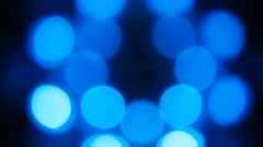 Blue and white bokeh moving - stock footage