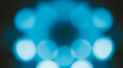 Blue and white bokeh moving Stock Footage