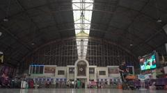 People at Bangkok railroad station - stock footage