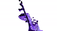 Purple fluid flow fly in front of camera, alpha matte included Stock Footage