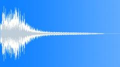 Metal plate hit ricochet - sound effect