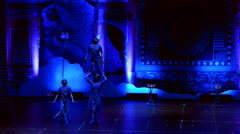 Jinan acrobatic troupe performs in St. Petersburg, Russia - stock footage