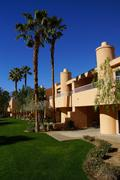 Southwestern style hotel buildings - stock photo