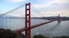 Golden Gate Bridge and San Francisco Scenery Stock Footage