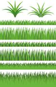 Illustration Vector Graphic Set Grass - stock illustration