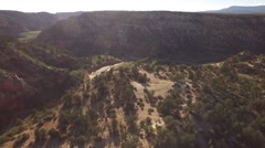 Aerial Over River Bend On Mountain Stock Footage