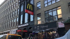McDonalds in China Town area of New York City 4k Arkistovideo