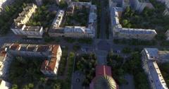 4K Aerial shot of city. Planetarium. Museum. - stock footage