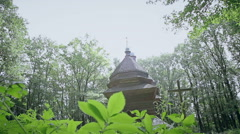 Beautiful type of wooden church - stock footage