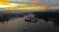 Aerial Canada Vancouver BC Stock Footage