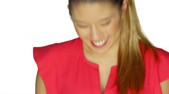 Beautiful young lady smiling and laughing. Stock Footage