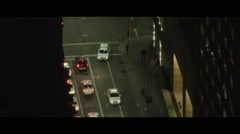 City streets traffic at night - stock footage