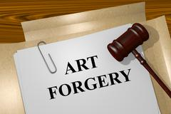 Art Forgery concept Stock Illustration