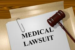 Medical Lawsuit concept - stock illustration