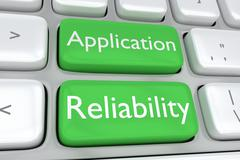 Application Reliability concept Stock Illustration