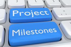 Project Milestones concept - stock illustration