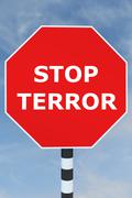 Stop Terror concept Stock Illustration