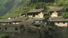 Old rural Chinese houses, Cuandixia Village Stock Footage