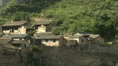 Chinese houses, rural Cuandixia Village Stock Footage