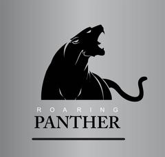 Fearless Panther - stock illustration
