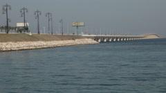 King Fahd Causeway - Connecting Saudi Arabia and Bahrain Stock Footage