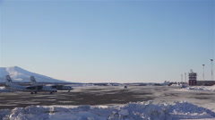 Airport Sokol Magadan region in the Far East of the Russian winter Stock Footage