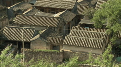 Chinese courtyard house rooftops Stock Footage