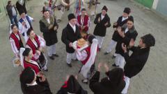 Festival of christmas traditions and parade (Sarbatoarea Mosoaielor) - stock footage
