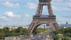 Tour Eiffel pan Stock Footage