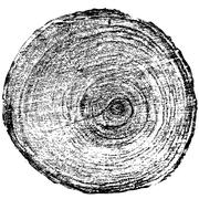 Tree rings saw cut tree trunk background. Vector illustration Stock Illustration