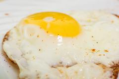 Egg breakfast with tasty becon - stock photo