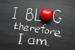 I blog therefore Stock Photos