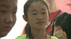 Chinese girl in school, Beijing, China Stock Footage